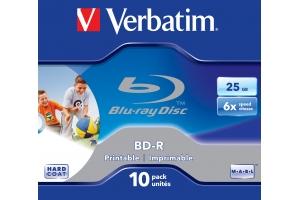 Verbatim BD-R SL 25GB 6x Printable 10 Pack Jewel Case 10 stuk(s)