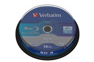 Verbatim BD-R SL 25GB 6 x 10 Pack Spindle 10 stuk(s)