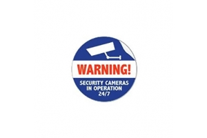 Axis Surveillance (pack of 50) sticker Blauw, Rood, Wit