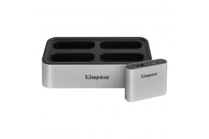 Kingston Technology Workflow Station Bedraad USB 3.2 Gen 2 (3.1 Gen 2) Type-C Zwart, Zilver